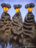 Wavy Remy virgin Indian machine weft