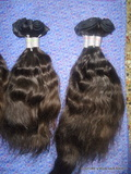 silky straight wavy machine weft