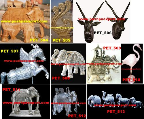 Carved Animal Statues