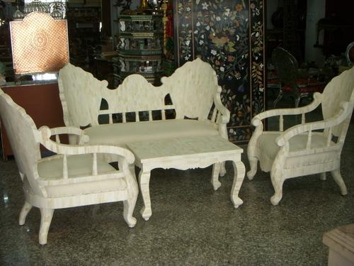 Bone Sofa Set and Table