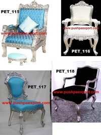 Silver Carved Chair