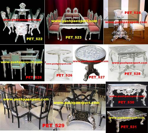 Silver Carved Dining Table
