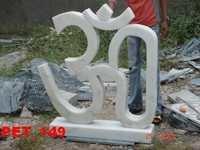 White Marble OM Symbol