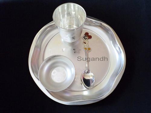 Silver Plated Baby Feeding Set