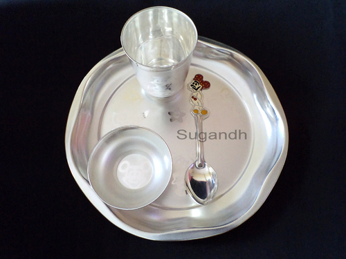Silver Plated Baby Feeding Set