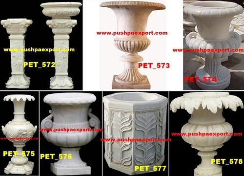 Marble Flower Pots and Vases