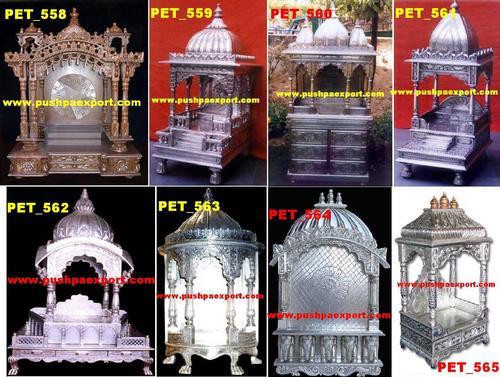 White Metal temples