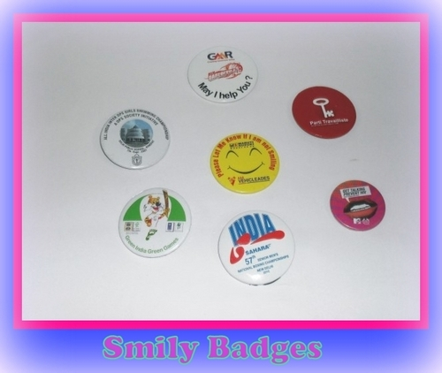 silver Smiley Badges