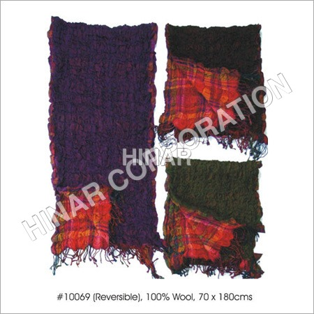 Wool Reversible Shawls with Lycra