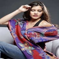 Pure Woolen Embroidered Shawls