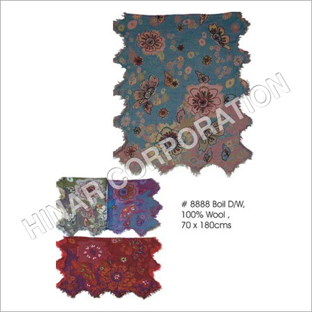 Boiled Wool Embroidery Scarves