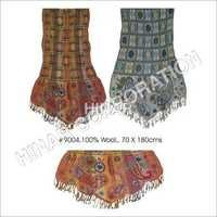 Wool Lycra Shawls With Embroidery