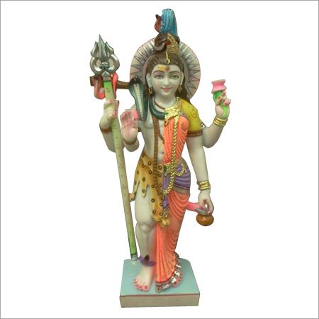 Lord Ardhanarishvara Marble Statue