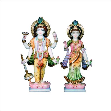 Marble Laxmi Narayan Statue