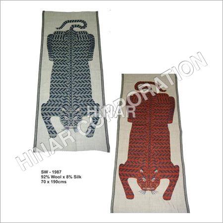Wool Screen Printed Shawls