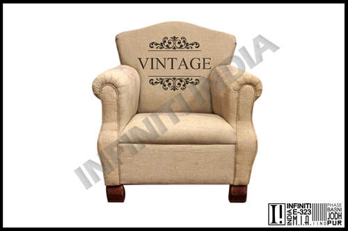Vintage Grain Sack Sofa