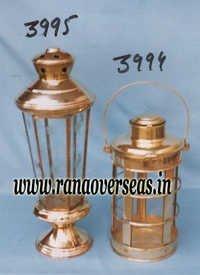 Brass Metal Lantern in Polished