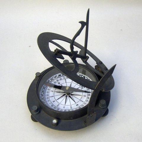 Colour Brass-Sundial-Compass