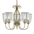 Searchlight 6355-5AB Silhouette Antique Brass Ceiling Light