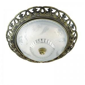 Antique Brass Flush Ceiling Light