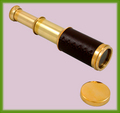 Solid Brass 9.5-inch Pocket Spyglass Telescope