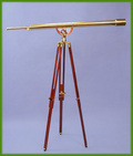 Solid Brass 55-inch Harbormaster Telescope on Mahogany Tripod