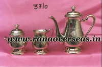 Silver Plated Tea Set with Sugar Pot, Milk Pot