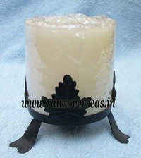 Wax Candle With Iron Stand
