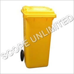 120L Yellow Garbage Bin
