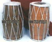 Wooden Dholak.