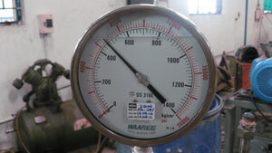 Test pressure measerement using calibrated Pressure Gauge