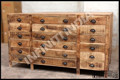 Reclaimed Wooden Drawer Chest