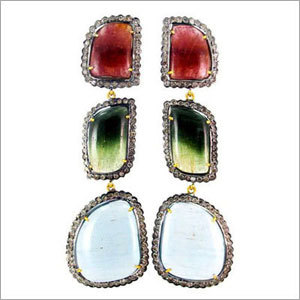 Diamond Multi Gemstone Earrings