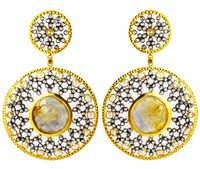 Sapphire Gemstone 14k Gold Earring