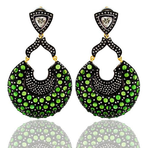 Tsavorite Diamond Earring Jewelry