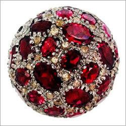Rhodolite Gemstone Diamond Disco Ball Beads