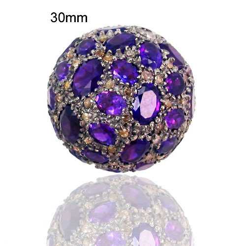 Amethyst Gemstone Pave Beads