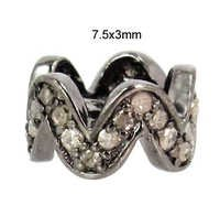 925 Sterling Silver Diamond Spacer Finding