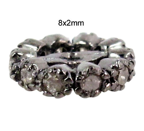 Silver Natural Diamond Spacer Finding
