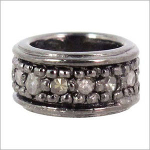 925 Silver Diamond Spacer Finding Jewelry