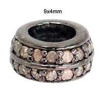 Silver Pave Diamond Finding Jewelry