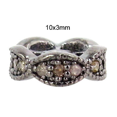 Spacer Pave Diamond Finding Jewelry