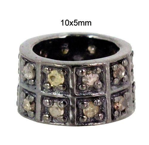 Round Shape Diamond Silver Finding Jewelry