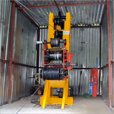 Double Drum Winch Tightwith Main Column