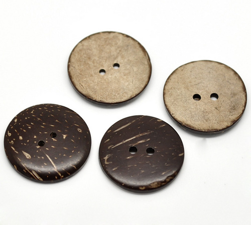 Brown Coconut Shell 2 Holes Sewing Buttons
