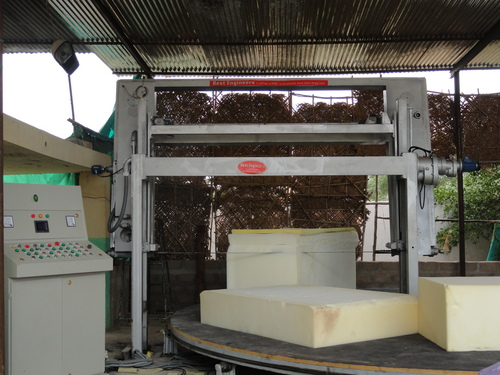 Rotary foam cutting machine