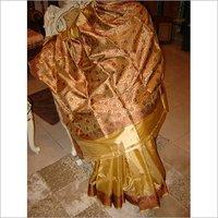 GOLDEN Silk saree(Traditional)