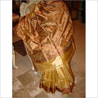 GOLDEN Silk saree(Traditional)