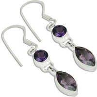 Amethyst Gemstone Earrings Jewellery