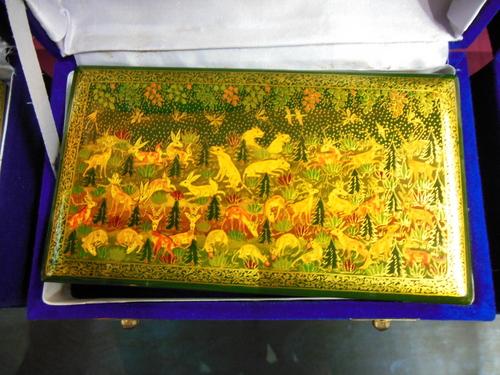 100% real gold papier machie flat boxes
